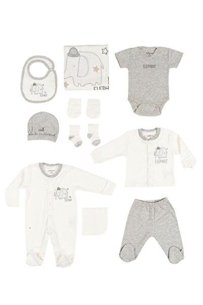 Aziz Bebe Erkek Bebek Gri Elephant 10'lu Hastane Çıkışı Seti