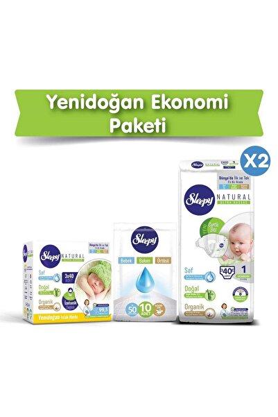 Sleepy Natural Bebek Bezi 1 Numara Yenidoğan Ekonomi Paketi