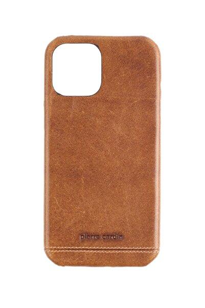 Pierre Cardin Iphone 12promax Taba Klasik Deri Arka Kapak