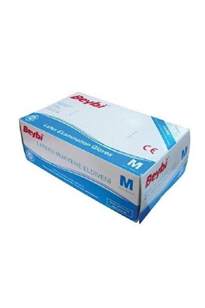 Beybi Muayene Eldiven Medium Pudralı Lateks 100lü Paket