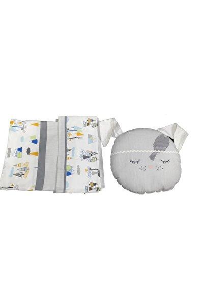 Baby Home Uyuyan Tavşan Aplikeli Bebe Nevresim Takımı