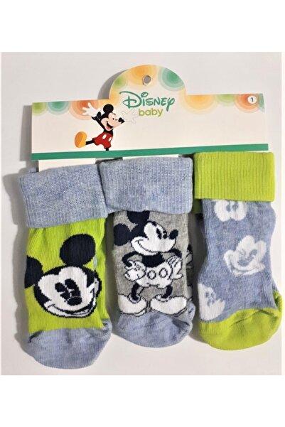 Mickey Mouse Erkek Bebek 3'lü Soket Çorap