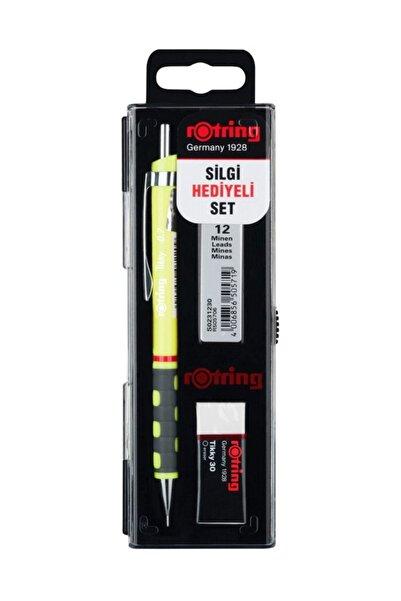 Rotring Tikky 0.7 Uçlu Kalem Neon Sarı Okul Seti
