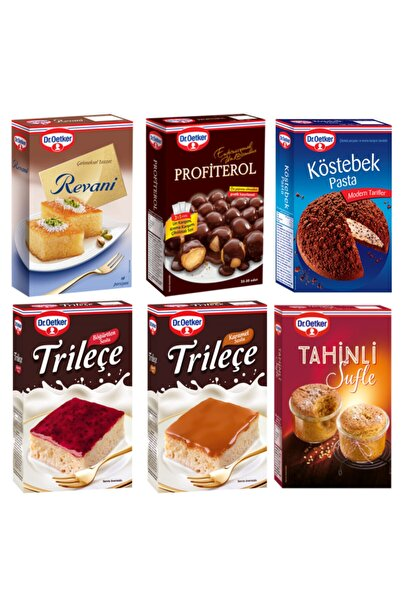 Dr. Oetker Revani,profiterol,köstebek Pasta,tahinli Sufle,böğürtlenli Ve Karamelli Trileçe Paketi
