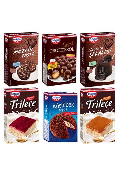 Dr. Oetker Mozaik,profiterol,çikolata Şelalesi,köstebek Pasta,böğürtlenli Ve Karamelli Trileçe Paket