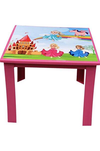 Fiore Çocuk Masası Plastik Pembe Prenses Resimli H40 1-3 Yaş İçin