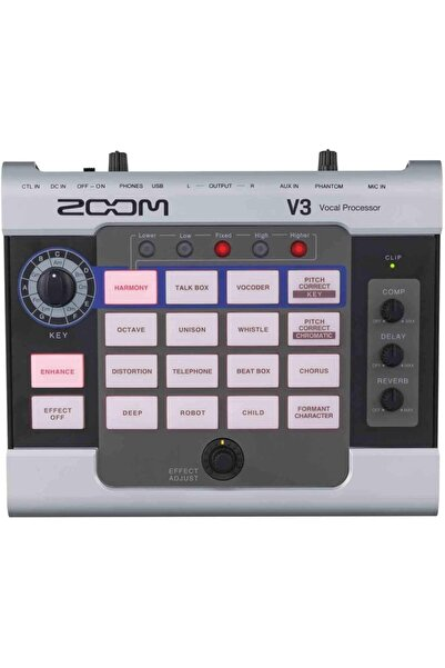 Zoom V3 Multi-efekt Vokal Prosesörü