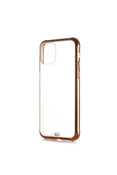 zore Altın Renk  Iphone 11 Pro Uyumlu Tpu Kamera Korumalı Silikon Kapak-Kılıf