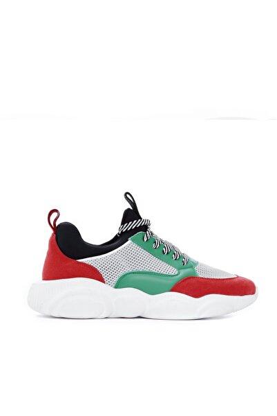 Moschino Erkek Yeşil Deri Tekstıl Casual Ayakkabı 717 Mb15223 Erk Ayk Y19