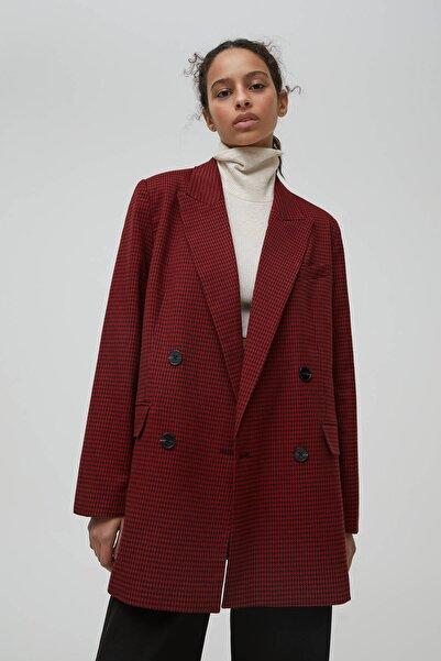 Pull & Bear Kadın Kırmızı Ceket