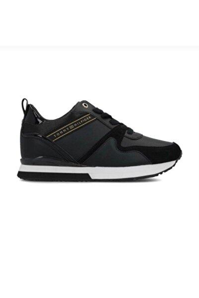 Tommy Hilfiger Kadın Deri Siyah Sneaker