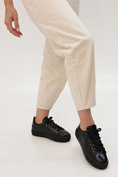 Marjin Afela Kadın Sneaker Ayakkabısiyah Rugan