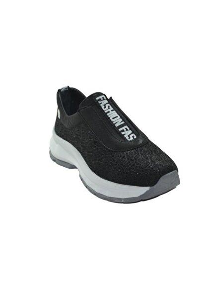 Mammamia D20ya-4075-b Deri Casual Kadın Ayakkabı - - Siyah Simli - 36