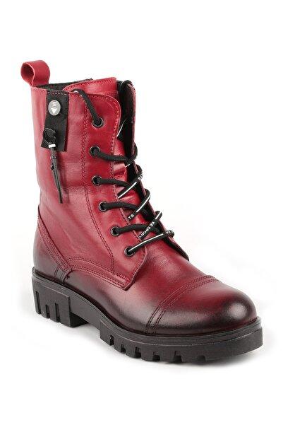 Libero Kadın Kırmızı Deri Bot 10760