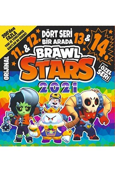 BRAWL STARS 11. & 12. & 13. & 14. Seri Dört Seri Bir Arada Oyunu Oyun Kartları 150 Poşet = 450 Kart