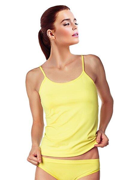 Doremi Kadın Sarı Seamless Atlet