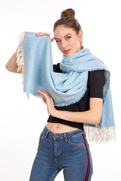 LadyColor Kadın Düz Renk Buz Mavisi Atkı