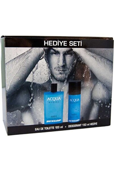 DUNLOP Aqua Marine Edt 100 ml +150 ml Deo Erkek Parfüm Seti