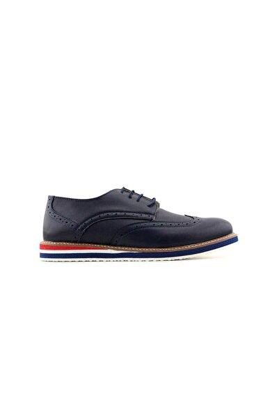 Minican Erkek Genç Ayakkabı-lacivert Kırmızı