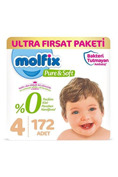 Molfix Pure&soft Bebek Bezi 4 Beden Maxi Ultra Fırsat Paketi 172 Adet
