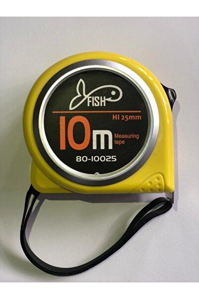 Fish Çelik Şerit Metre,10 Mt X 25mm