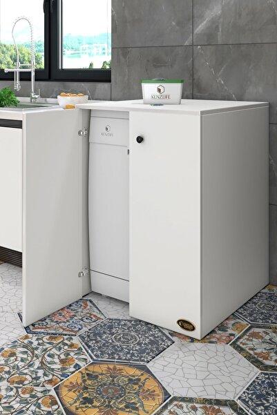Kenzlife Bulaşık Makinesi Dolabı Kapaklı Nurten Byz 90*70*60 Banyo Ofis