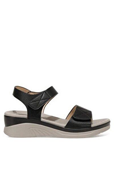 CLINTTUN 1FX Siyah Kadın Kalın Tabanlı Sandalet 101027778