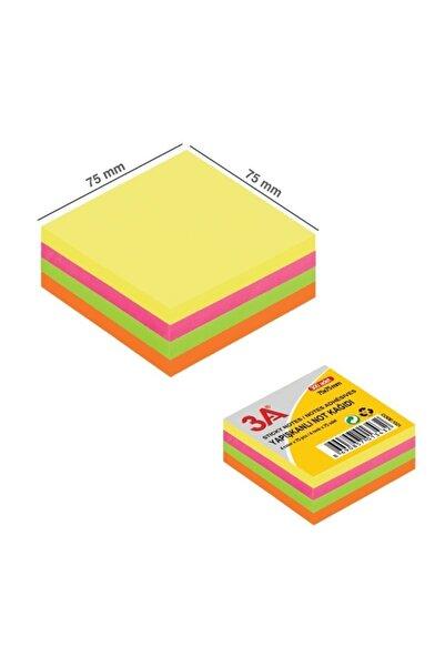 3A Yapışkanlı Küp Not Kağıdı, Neon Post-it 4 Renk 300 Pcs