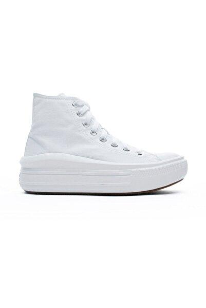 converse Kadın Beyaz Chuck Taylor All Star Move Platform Hi  Sneaker