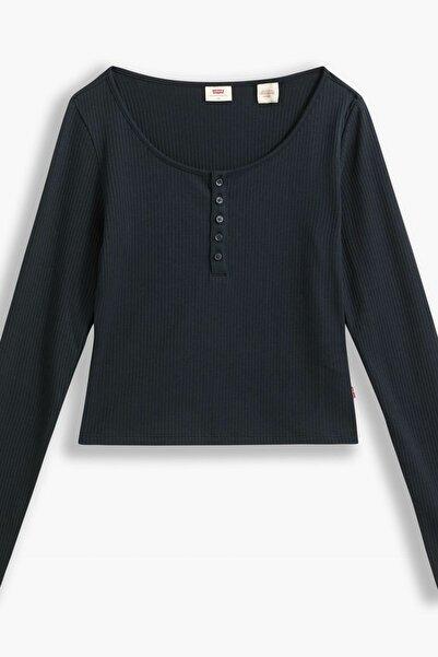 Levi's Brandy Ls Tee Caviar Siyah Kadın Tişört