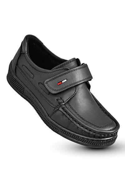 KAPTAN JUNIOR Erkek Çocuk Siyah Ortopedik Ayakkabı  222