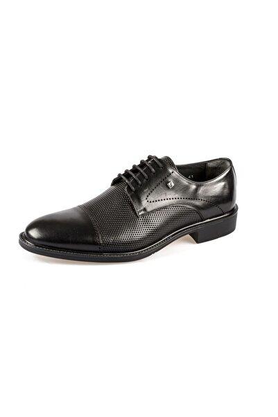 Fosco 8607 Lazer Işlemeli Hakiki Deri Klasik Kauçuk Ayakkabı