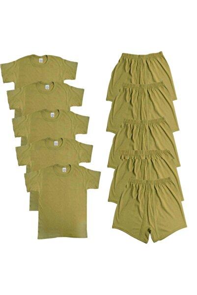ERDOĞANLAR 5'li Asker Iç Çamaşırı Boxer Fanila  Askerlik Malzemeleri  Acemi ve Bedelli Malzemesi Seti