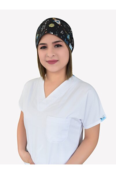 Nur Ortopedi Forma Siyah Gezegen Doktor Hemşire Hastane Medikal Cerrahi Bone