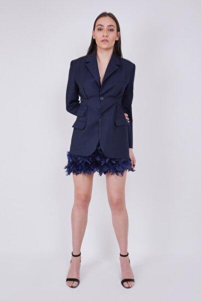 BöğürtlenStore Kadın Lacivert Blazer Ceket