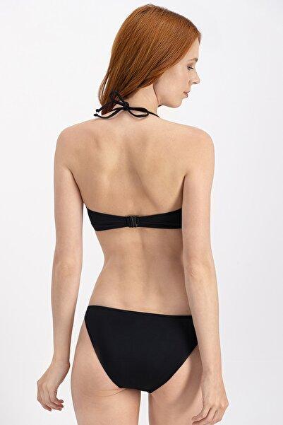 Siyah Straplez Bikini Üstü