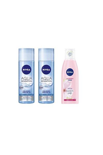 Nivea Aqua Sensation Yüz Temizleme Jeli 200 mll 2 Adet + Yatıştırıcı Yüz Tonik 200 ml