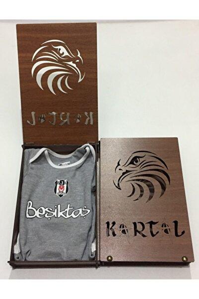 Beşiktaş Forma Bebek Zıbın Hediyelik Ahşap Kutulu-6