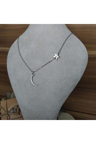 Mammamia Silver Hilal-yıldız Çelik Kolye