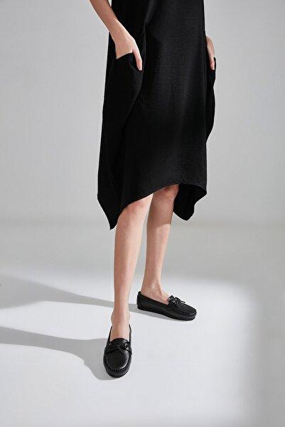 Yaya  by Hotiç Sıyah Kadın Loafer Ayakkabı 01AYY600810A100