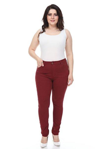Modayız Bordo Likralı Pantolon 11a-1076