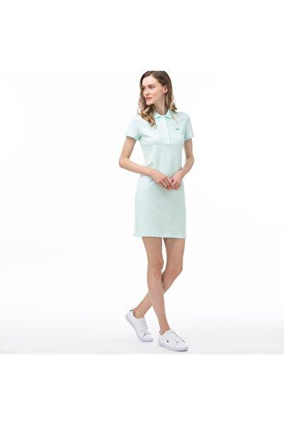 Lacoste Kadın Polo Yaka Kısa Kollu Açık Mavi Elbise EF5473