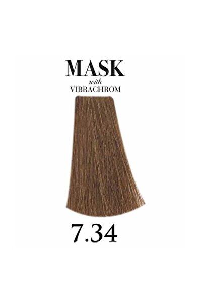 Davines Mask Vibrachrom 7,34 Orta Altın Bakır Kumral Saç Boyası 100ml