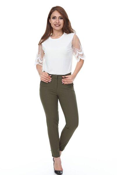Modayız Yeşil Kumaş Pantolon 26b-1098