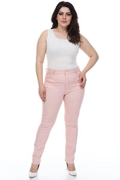Modayız Pembe Esnek Pantolon 27d-1097