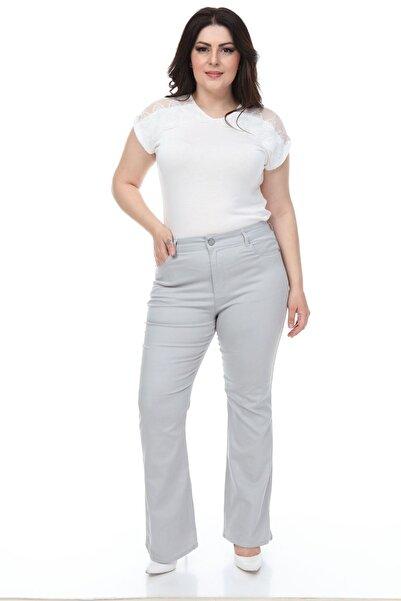 Modayız Gri Ispanyol Paça Pantolon 27d-1095