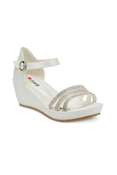 512495.f Beyaz Kız Çocuk Sandalet