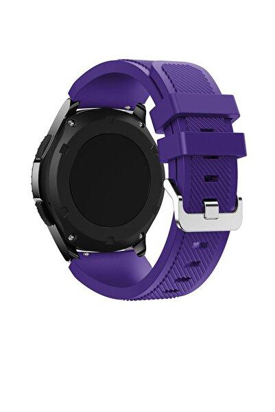 TahTicMer Huawei Watch Gt2 46mm Sport Kordon Silikon Mor