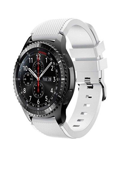TahTicMer Huawei Watch Gt2 46mm Sport Kordon Silikon Beyaz