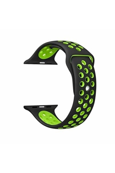 Techmaster Apple Watch 1 2 3 4 5 42mm 44mm Spor Silikon Tme Kordon Kayış Yeşil